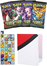 Totem World 1 Sun and Moon Hidden Fates Booster Pack with a Inspired Mini Binder Collectors Album for Pokemon Cards - Rare Holo Common or Uncommon TCG