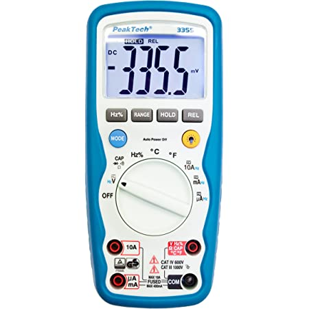 Peaktech 2180 Digital Multimeter With Lcr Meter Resistance Capacity Inductivity Meter 6000 Counts Car Range Current Meter Continuity Tester Illuminated Lcd Display Cat Iii 1000v Business Industry Science
