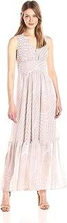 Women's V-Neck Chiffon Printed Maxi Dress