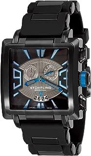 Stuhrling Original Men's 278A.335681 Classic Metropolis Il Capo Chronograph Swiss Quartz Date Black Watch