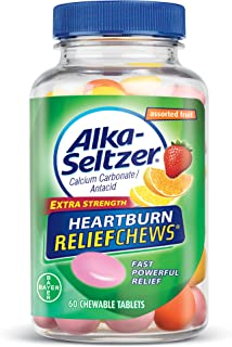 Alka-Seltzer Extra Strength Heartburn ReliefChews - relief of heartburn, acid indigestion and sour stomach - assorted lemon, orange strawberry flavors - 60 Count