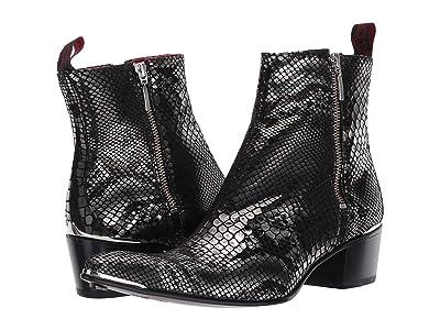 Jeffery-West Sylvian Double Metal Zip Boot (Black) Men