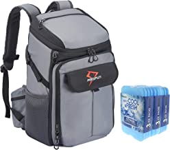 Piscifun Cooler Backpack with 9 Pack Cool Coolers, Large Insulated Leakproof Cooler Bag for Men and Women, Keeps Food and Drinks Cool and Fresher