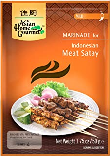 Asian Home Gourmet Indonesian Satay (Mild), 1.75-Ounce Packages (Pack of 3)