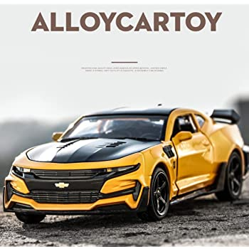 Magicwand®🙆 1:32 Scale Die-Cast Chevy Camaro with Openable 🎊Doors and Pull Back Action, Lights & Music