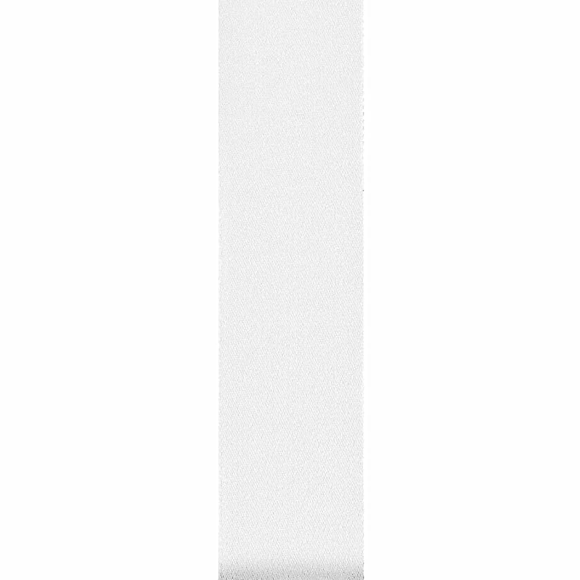 Offray Wired Edge Chantel Craft Ribbon, 5/8-Inch x 9-Feet, White