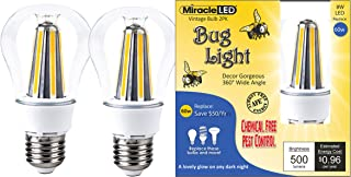 MiracleLED 606499 Degree Decor Gorgeous LED Un-Edison Vintage 360° Wide Angle Bug Lite Outdoor Porch, Patio, Deck & Entry Way Light Bulb, 2-Pack, 2 Piece