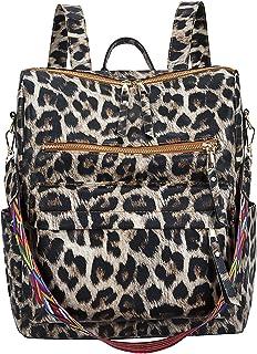 Mujer Mochila Moda Bolso de Hombro Impermeable Bolsa Bandolera para Trabajo Compras Cita Fiesta Backpack Duradero PU Marrón