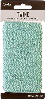 Darice 30030709 Baker's Mint Green & White, 100 Yards Twine, Green/White
