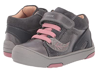 Geox Kids Jayj 2 (Toddler) (Black/Charcoal 1) Girls Shoes