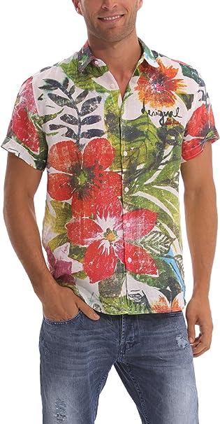 Desigual Flores Camisa para Hombre - Ropa
