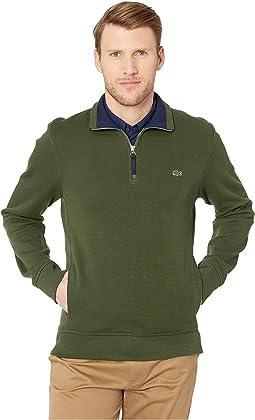 Long Sleeve Interlock Sweatshirt 1/2 Zip-Up