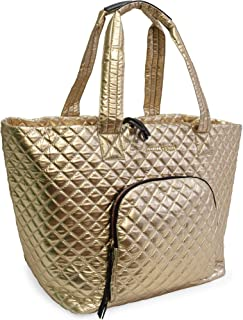 Quilted Nylon Tote For Women Adrienne Vittadini Great for Going to The Gym, Beach and Outings