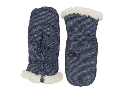 The North Face Kids Reversible Mossbud Swirl Mitt (Big Kids) (Montague Blue Denim Print) Extreme Cold Weather Gloves
