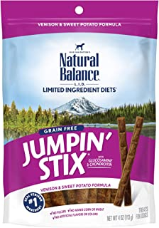 Natural Balance L.I.D. Limited Ingredient Diets Jumpin' Stix Dog Treats, Grain Free (Packaging May Vary)