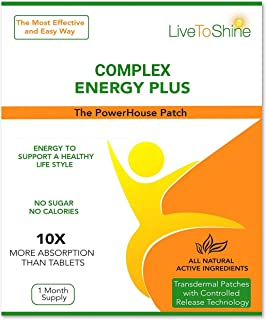 Energy Be Patch - Natural Ingredients for Energy, Alertness and Wellbeing - USA Made by Live To Shine
