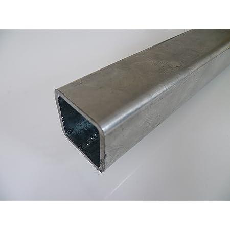 B/&T Metall Stahl Rechteckrohr 50 x 20 x 2,0 mm in L/ängen /à 2000 mm 0//-3 mm Flachkantrohr ST37 schwarz roh Hohlprofil Rohstahl