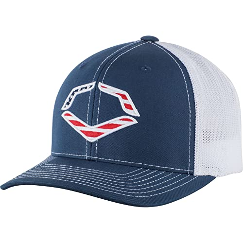 10aea8f863b Wilson Sporting Goods Evoshield USA Logo Flexfit Trucker Hat