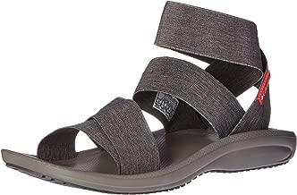 Columbia Women's Barraca Strap Athletic Sandal, Dark Grey/Wild Salmon, 10 B US
