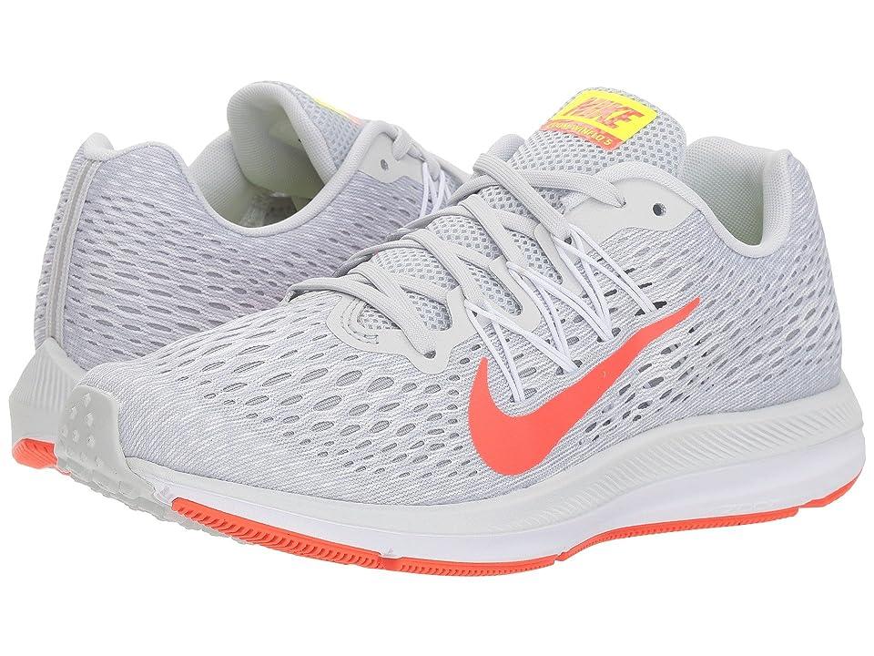 Nike Air Zoom Winflo 5 (Pure Platinum/Bright Crimson/White) Women