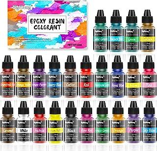 Colorant Resine Epoxy - 24 couleurs - Peinture époxy liquide hautement concentrée pour la fabrication de bijoux - Peinture...