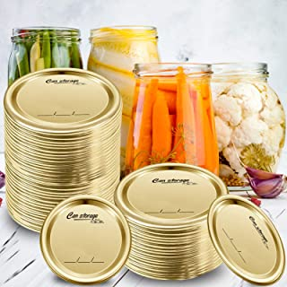 70 Pcs Wide Mouth Canning Lids-86MM Mason Jar Canning Lids,Reusable Leak Proof Split-Type Lids with Silicone Seals Rings,1...