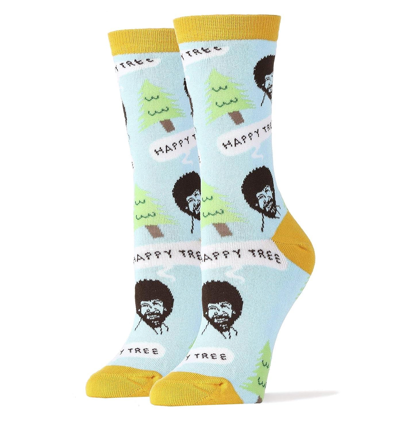 Oooh Yeah Socks Women's Funny Novelty Pack Socks Bob Ross