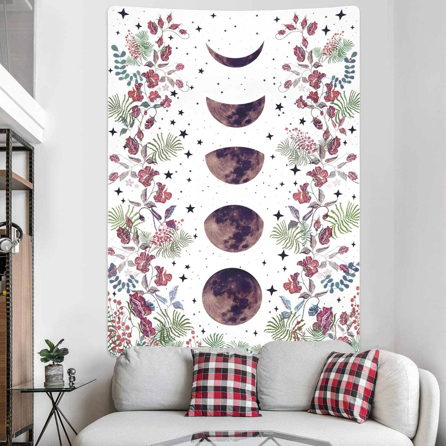 Moonlit Garden Tapestry Moon Max 74% OFF Flowers Phase Tapest Max 71% OFF Vines
