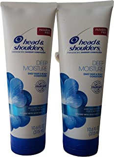 Head & Shoulders Deep Moisture Dandruff Conditioner, 10.6 Fluid Ounce, Pack of 2
