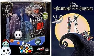 Look Here Nightmare Jack? Disney Before Christmas Animated Movie Tim Burton + NBX Collectible Mini Character Figure Toy & DVD Bundle King Skellington Tsum Exclusive Mayor