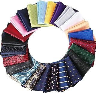 24 قطعه مردانه مربع جیبی مردانه دستمال نرم مردانه رنگی هانکی های مختلف برای مهمانی عروسی