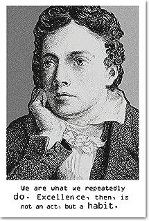 // Best Quality Prints // John Keats Art Print 'Excellence Motivational' - Photo Poster Gift - Size: 45cm x 30cm
