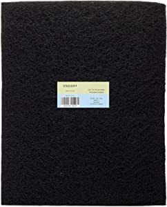 STEELSOFT -Thicker(3/8'')- 16x50 MERV 7 Cut-To-Fit Activated Carbon Filter Charcoal Air Filter Sheet Pre-Filter Pad For Range Hood, Air Conditioner, Aquarium, Air Purifier, Odor VOCs Elimination