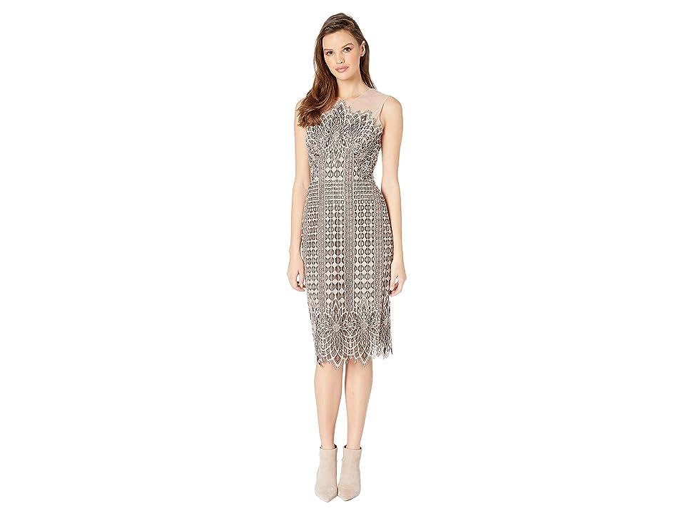 BCBGMAXAZRIA Belila Sleeveless Lace Dress (Black/Blush Pink) Women