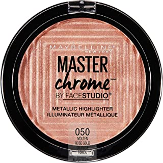 Maybelline New York Facestudio Master Chrome Metallic Highlighter Makeup, Molten Rose Gold, 0.24 Ounce