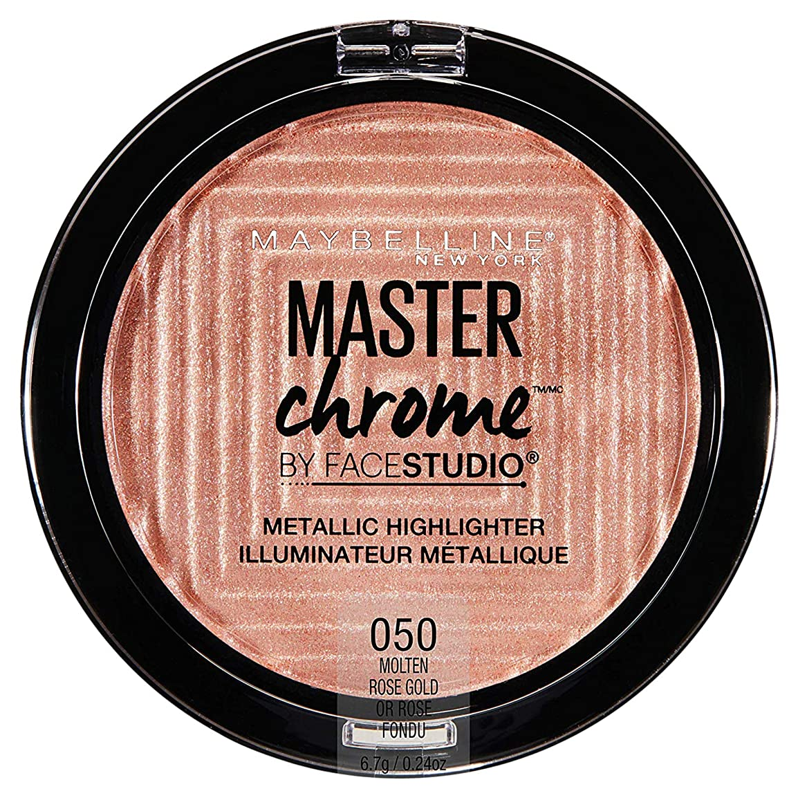 抽選思い出させる短命MAYBELLINE FaceStudio Master Chrome Metallic Highlighter - Molten Rose Gold (並行輸入品)