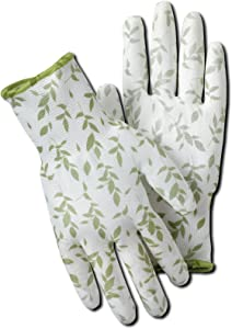 Magid BE319T Bella Leaf Print Garden Glove, Large