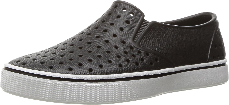 Native Shoes - Miles Child, Jiffy Black/Shell White, C4 M US