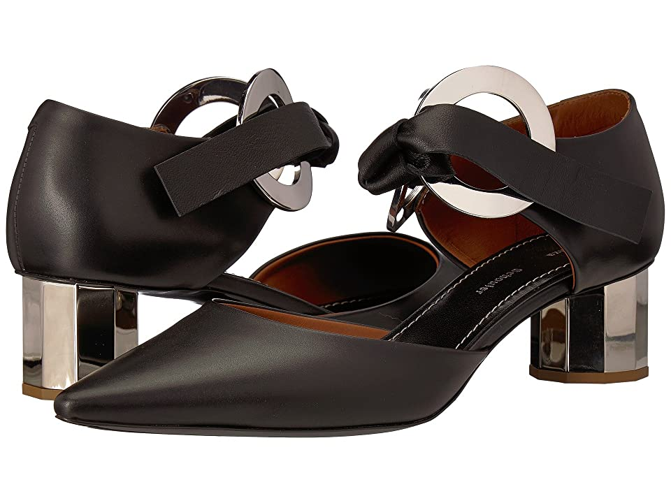 Proenza Schouler PS31090 (Black/Silver Heel) Women