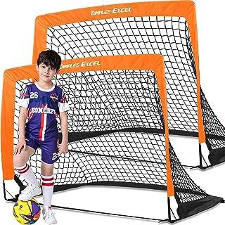 Dimples Excel Soccer Goals Kids Soccer Net for Backyard...