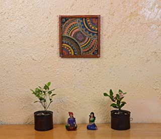 Abani Arts & Crafts Wooden Art Home décor Wall décor Wooden Carved and Painted Wall Panel