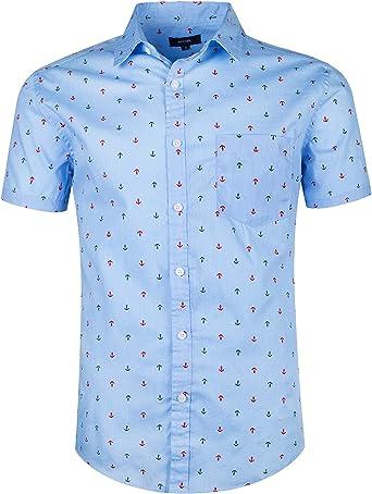 SOOPO Camisa Hombre Shirt de Manga Corta Estampados de Estrellas de Colores para Hombre, Camiseta Bonita y Cómoda para Verano, Diversos Colores y ...