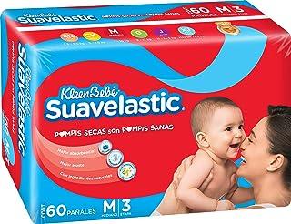 KleenBebé Pañal Desechable para Bebé Suavelastic, Unisex, Mediano, 60 Piezas