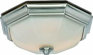 Hunter 80213 Huntley Decorative Bathroom Ventilation Fan with Light (LED Bulbs Included), Brushed Nickel