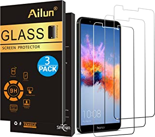 Ailun Screen Protector Compatible with Huawei Honor 7X 3 Pack Full Coverage 2.5D Edge Tempered Glass Compatible with Huawei Honor 7X Anti Scratch Bubble Free Case Friendly