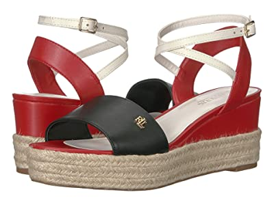 LAUREN Ralph Lauren Delores (Black/Rl2000 Red/Vanilla Super Soft Leather) High Heels