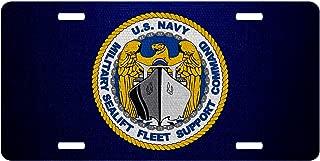 ExpressItBest Premium Aluminum License Plate - U.S. Military Sealift Fleet Support Command (MSFSC), Insignia (Emblem)