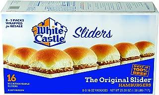 White Castle The Original Slider, 100% Beef, 16 Count Hamburgers, Microwaveable, 25.28 oz (Frozen)