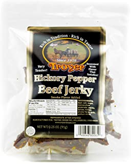 Troyer Hickory Pepper Beef Jerky 3.25 Ounces
