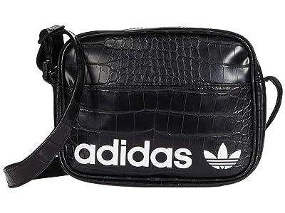 adidas Originals Originals Airliner Shoulder Bag (Black Croc/White) Handbags